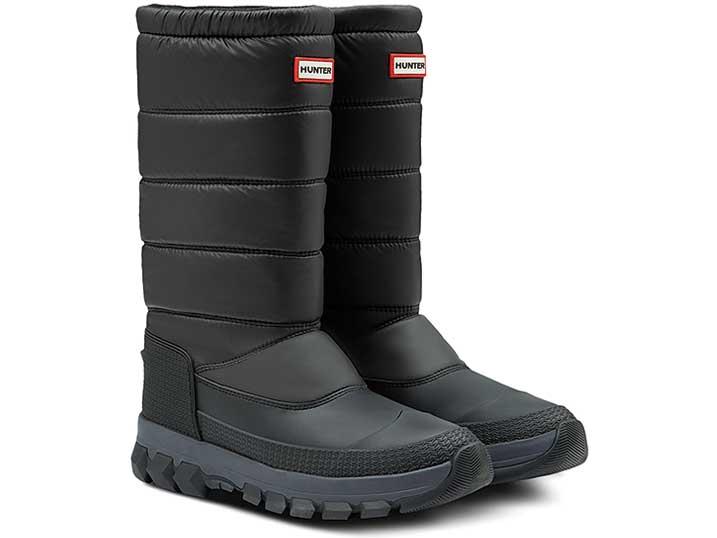 Hunter Mens Original Insulated Snow Boot Tall Black   MFT9110WWU-BLK