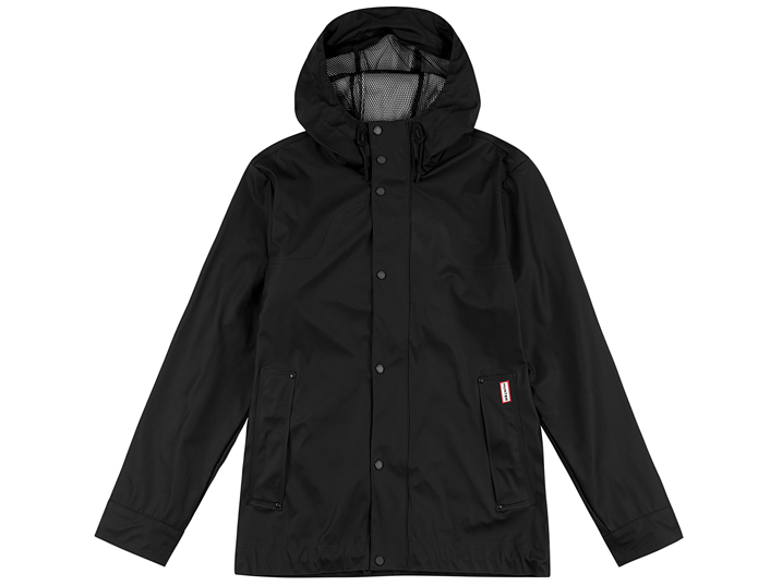 Hunter Mens Original Lightweight Rubberised Bomber Black  MRO4190WAP-BLK