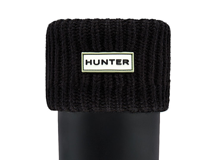 Hunter Boot Sock Ribbed Black  UAS3001AAC-BLK