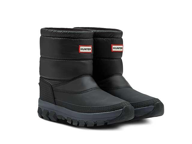 Hunter Heren Original Insulated Snow Boot Short Black    MFS9112WWU-BLK