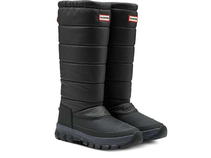 Hunter Dames SnowBoot Insulated Tall Black  WFT2042WWU-BLK