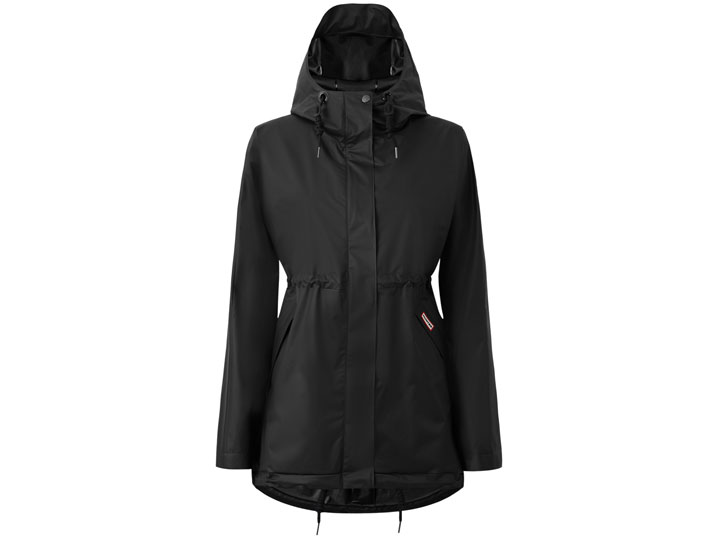 Hunter Damesjas Vinyl Smock Black  WRO1185VAD-BLK