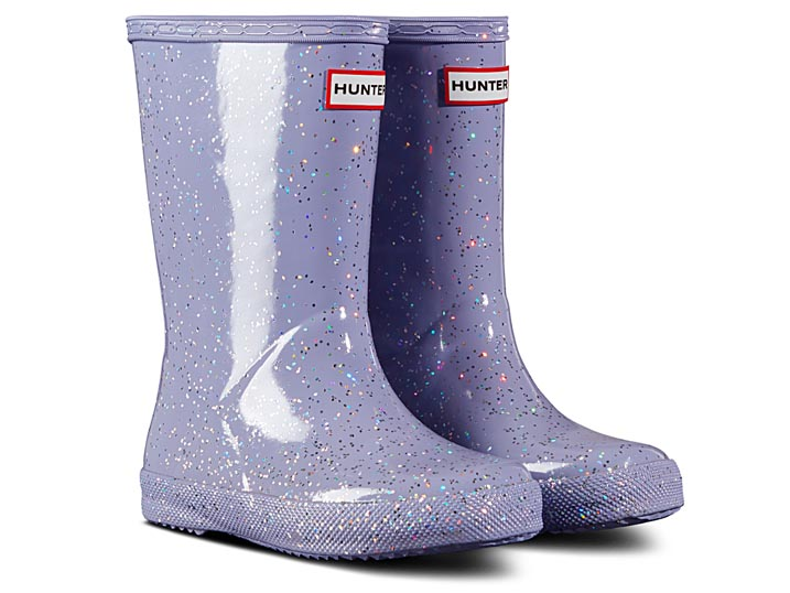 Hunter Kinderlaars Original Classic Giant Glitter Purple