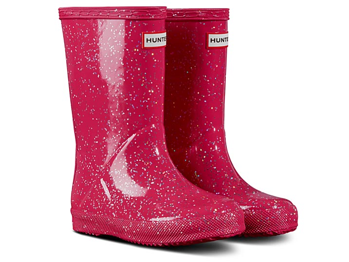 Hunter Kinderlaars Original Classic Giant Glitter Pink