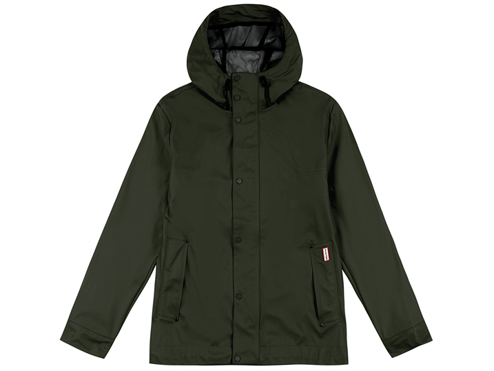 Hunter Mens Lightweight Rubberised Bomber Dark Olive