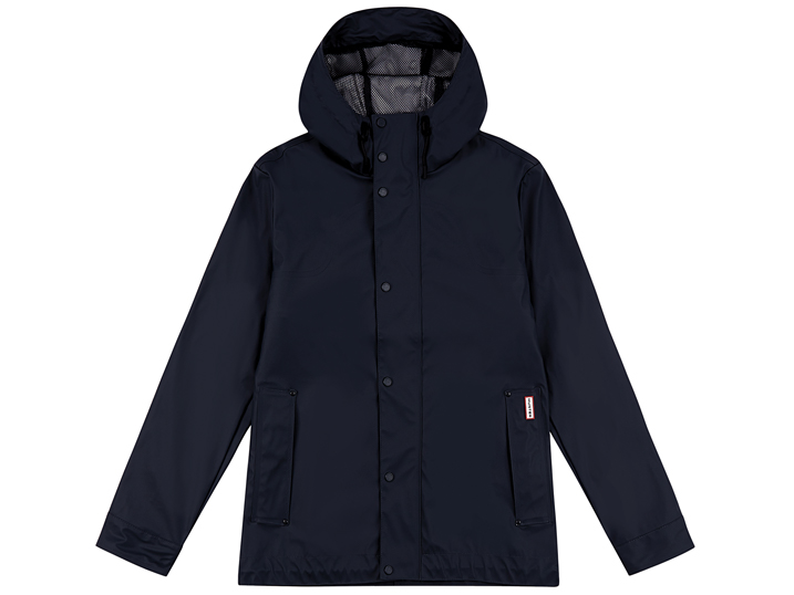 Hunter Mens Lightweight Rubberised Bomber Navy
