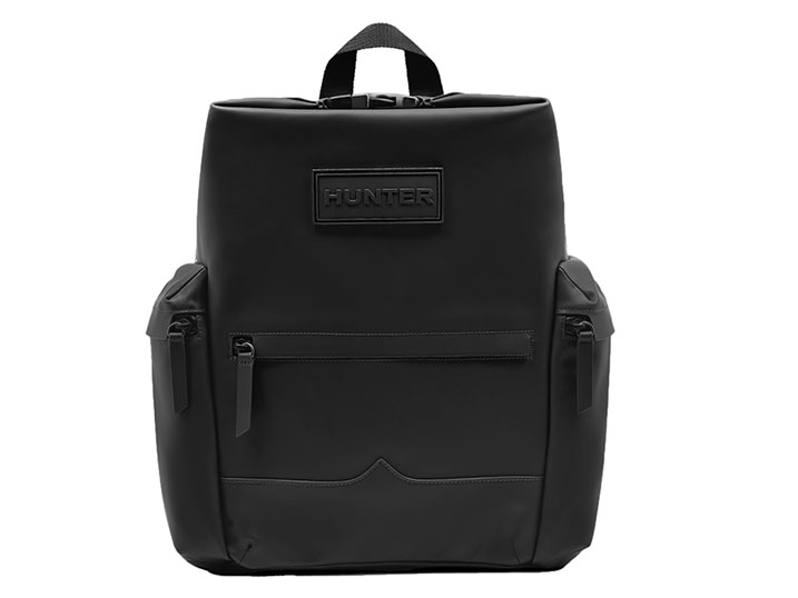 Hunter Backpack Rubberised Leather Black