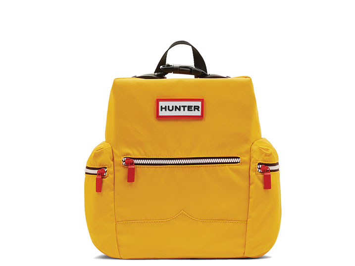 Hunter Top Clip Backpack Nylon Yellow Mini