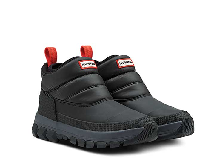 Hunter Heren Original Insulated Snow Ankle Boot Black