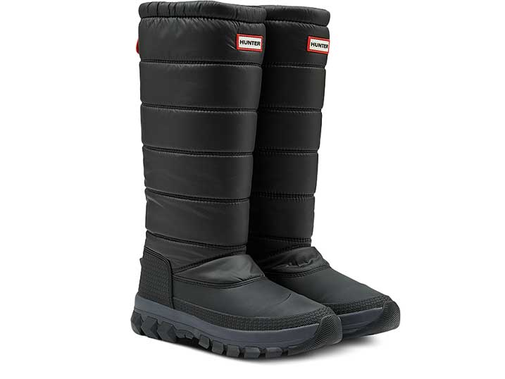 Hunter Dames SnowBoot Insulated Tall Black