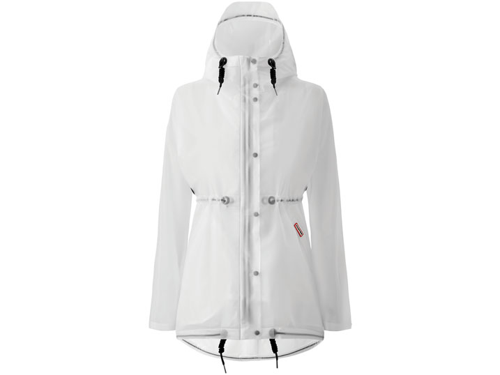 Hunter Damesjas Vinyl Smock White
