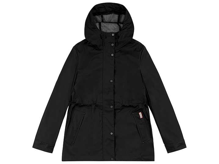 Hunter Womans Lightweight Rubberised Jacket Black