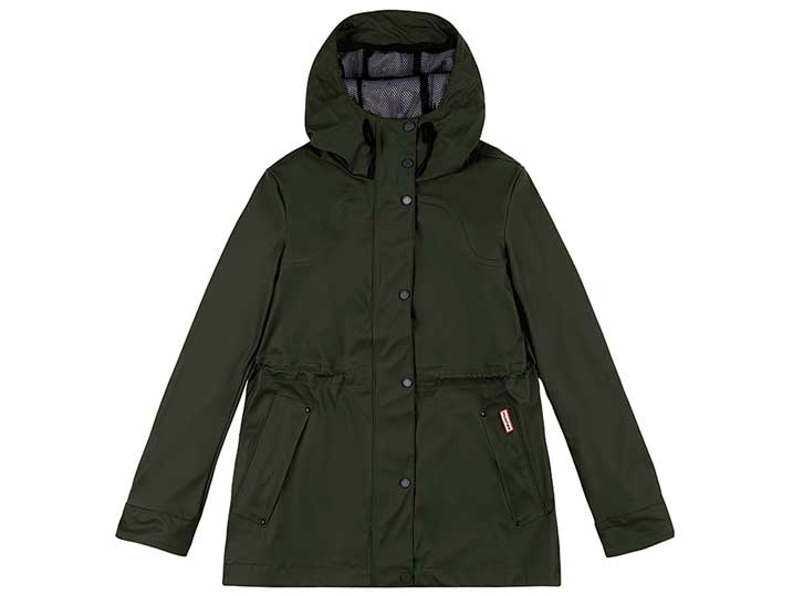 Hunter Damesjas Lightweight Waterproof Olive