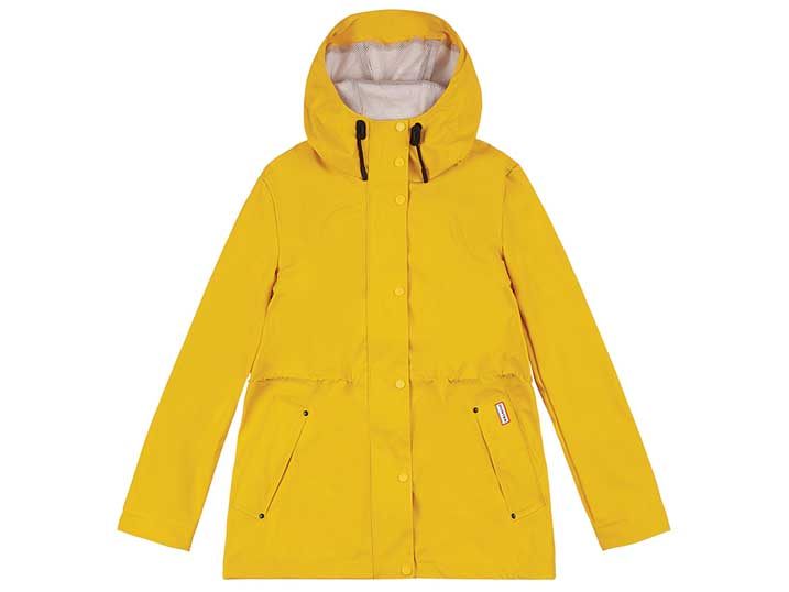 Hunter Women's Lightweight Waterproof Jacket Yellow