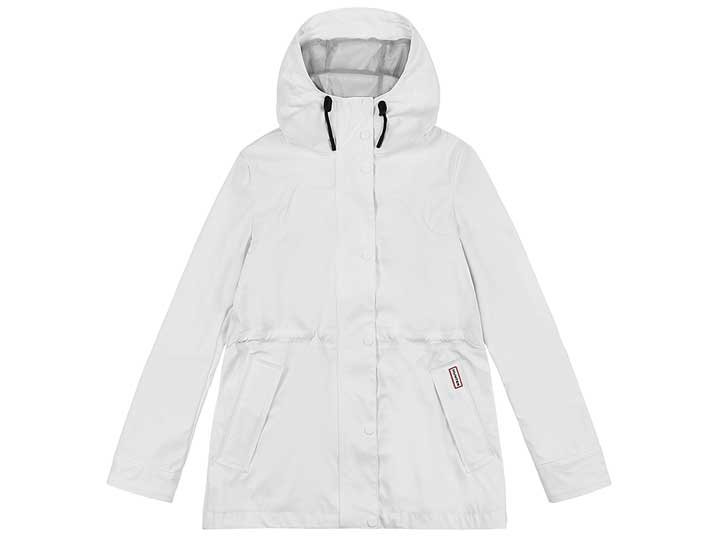 Hunter Damesjas Lightweight Waterproof White